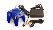 ** AC Adaptor + Blue Controller + AV Cable Cord  Bundle for Nintendo 64 N64