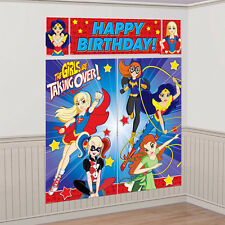 DC SUPER HERO GIRLS WALL POSTER DECORATING KIT (5pc) ~ Birthday Party Supplies
