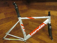 CERVELO TEAM SOLOIST AERO ROAD ROAD TRIATHALON  FRAME SET 54 CM CARBON FORK
