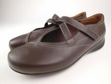 WOLKY Passion Brown Leather Mary Jane Shoes Sz 40
