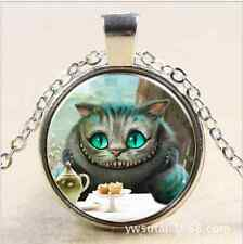 DIY Alice in wonderland Cheshire Cat silver necklace for women men Jewelry,,