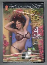 EURO-SEX EROTIC COMEDY FOUR 4 FEATURE COLLECTION new dvd 4 FILMS - 2 DISC SET