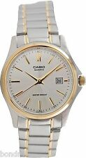 Casio LTP1183G-7AD Ladies Analog Watch Steel Gold and Silver Date Display New