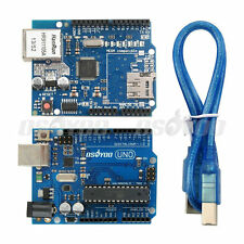 W5100 Ethernet Expansion Network Shield + UNO R3 Board + USB Cable for Arduino