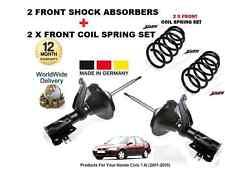 Para Honda Civic 2001-2005 Nuevo 2 X Delantero Amortiguadores + 2 X Bobina delantera Primavera
