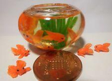 1:12 maison de poupées miniature poisson bol & 6 poisson rouge accessoire grande