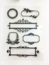 Frame Transparent Clear Rubber Stamp Sheet Cling Scrapbooking DIY.