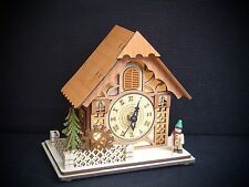 3D LED Light Arch Light house with clock and Winter Figurine 70358