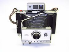 Excellent Polaroid Land 350 Camera & Strap - Zeiss viewfinder - CR123A converted