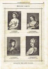 1871 Capolavori dell'Arte Italiana Fornarina Violinista Raffaello Beatrice Cenci