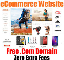 Website With Free .Com Domain - eCommerce - Home Business - 100 Million Goods