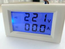 Blue LCD AC volt & amp combine 2 in 1 panel meter 300V 50A Doesn't Require Power