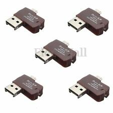 5 pcs 2in1 Micro USB 2.0 OTG Adapter + Micro SD TF Card Reader for Android Phone