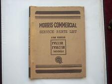 MORRIS COMMERCIAL parts list  FVS12/5R 5L, FVSO12/5R  5L chassis published 1954