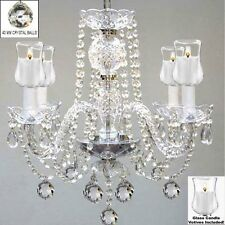 "Crystal Chandelier Lighting W/Candle Votives H17"" X W17""For Indoor/Outdoor Use!"