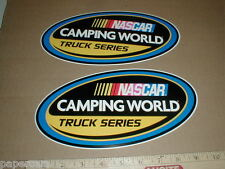 "Camping World Truck Series Nascar Original decal sticker 9.5"" PAIR Contingency"