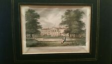 Antique Engraving George Petrie Vice-Regal Lodge in Phoenix Park 19thC mounted