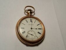 Antique Waltham 12s Model 1894 14k Solid Gold Pocket Watch Made In 1896