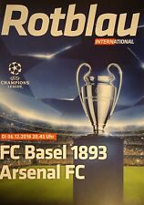official Programme UCL 2016/17 FC Basel vs Arsenal FC