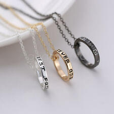 3pcs Best Friend forever Friendship Alloy Ring Pendant Necklace Gifts for women