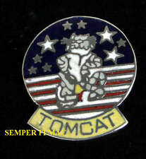 F-14 TOMCAT HAT LAPEL PIN UP ANYTIME BABY US NAVY PILOT CREW GIFT USS TOPGUN WOW
