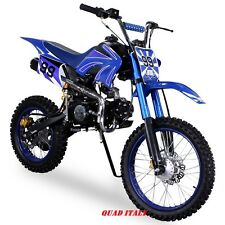 "PIT BIKE CROSS 125cc BLU RUOTE 17""14"" 4 MARCE MINI MOTO MINICROSS MINI QUAD."