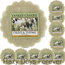 10 YANKEE CANDLE WAX TARTS Olive and Thyme MELTS fresh scented
