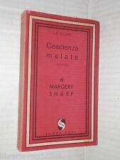 COSCIENZA MALATA Margery Sharp Jandi Sapi Le najadi 44 Prima edizione 1951 libro