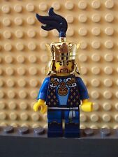 Lego Minifig ~ Crown King w/Gold Crown ~ Castle Kingdom Fantasy Era #e9hn