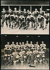 1959 World Ice Hockey Championships (Czech) -(4) Oversized Team Postcards *RARE*