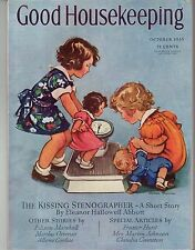 1935 Good Housekeeping October - South America airplane vacation; Baby elephant