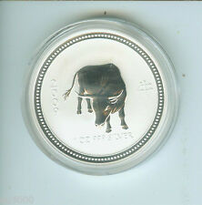 2009 / 2007 $1 LUNAR YEAR OF OX 1 Oz. SILVER COIN Series 1 AUSTRALIA KEY DATE !!