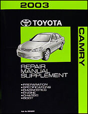2003 Toyota Camry 6 Cylinder Repair Shop Manual Supplement V6 New