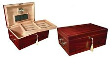 Cherry 120 Cigar Humidor Case w Humidifier / Hygrometer