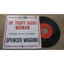 SPENCER WIGGINS - Up Tight Good Woman Rare French PS 7' Stateside Funk Blues 67