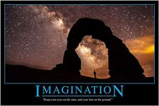 inspirational motivational poster IMAGINATION AND QUOTE starry sky 24X36