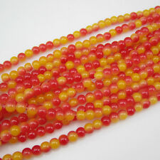 50pcs 6MM  Ball Loose Round Glass crystal Beads for Fit Bracelets Necklaces A-07
