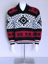 vtg 90s darkwave punk SOUTHWEST indian blanket boho WOOL fisherman GAP sweater M