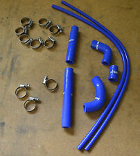 KTM Husaberg 250 300 Silicone Thermostat Hose Kit With Clamps Gloss Blue 2008-Up