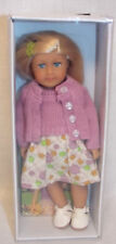 "American Girl KIT MINI DOLL 6"" + Book CLEAR COVER in Box Blonde Kit's Dress NEW"