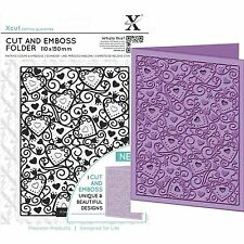 DOCRAFTS XCUT A6 HEART PATTERN CUT & EMBOSS FOLDER GREAT FOR WEDDINGS VALENTINES