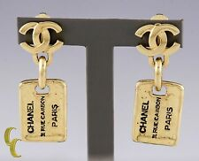 Chanel 31 Rue Cambon Vintage Gold Tone Clip-on Costume Earrings