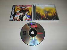 Dead Or Alive Complete PS1 Playstation 1 Game CIB Black Label