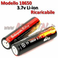 BATTERIA 18650 3,7v 4200mAh RICARICABILE LI-ION TORCIA LED POWER BANK NOTEBOOK