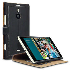 Black PU Leather Thin Wallet Case Cover with Viewing Stand for Nokia Lumia 1520
