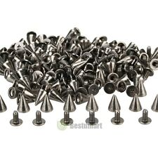 100 PCS Trendy 10MM Silver Spots Cone Screw Metal Studs Rivet Bullet Spikes DIY