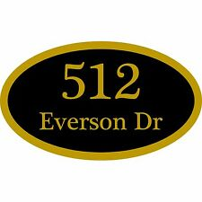 "Custom Home Address Plaque Personalized Aluminum Sign 12"" x 7"" Choice of Colors"