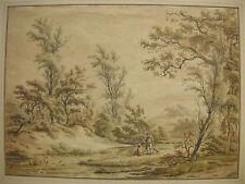 C. L. HANSEN ´HOOGHALEN, ASSEN, DRENTHE, NL, LAVIERTE KREIDEZEICHNUNG´ ~1800