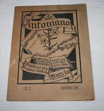 REVISTA ANTIGUA ANTONIANO Nº 61 FEBRERO 1947 BELEN EN LOS FRANCISCANOS DE HELLIN