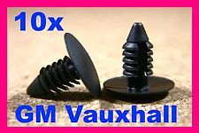 10 VAUXHALL Bumper fender grill radiator push clip fasteners